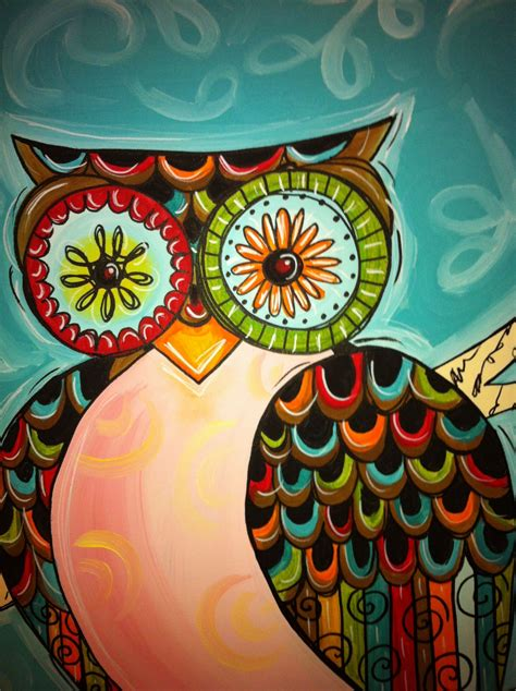colorful owl colorful owl painting www pixshark images