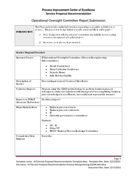 Best Photos Of Sle Recommendation Report Template Recommendation Report Sle Process Improvement Form Template
