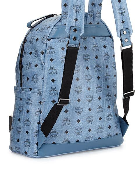 mcm mens sneakers lyst mcm stark no stud medium backpack in blue for