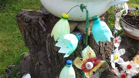 garden decoration ideas homemade making plastic bottle garden decoration diy home