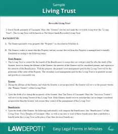 trust agreement template revocable living trust free living trust forms us