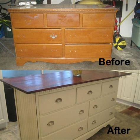dresser i turned into kitchen island for the home