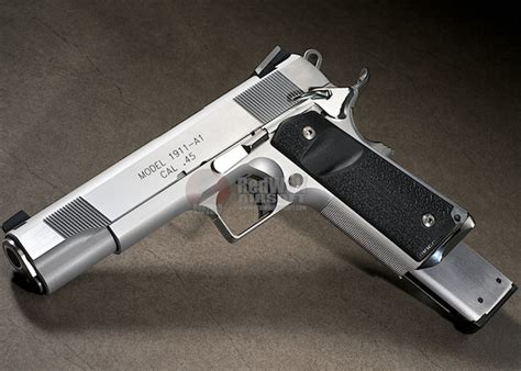 Airsoft Masterpiece Steel Frame Sv Silver as custom springfield 1911 tactical silver popular airsoft