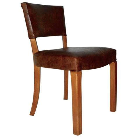 Leather Dining Chairs For Sale 20th Century Deco Leather Dining Chairs For Sale At 1stdibs
