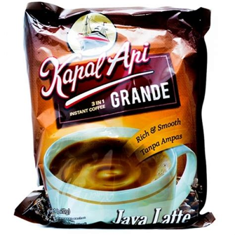 Kapal Api Grande White Coffee Topping Bag kapal api grande java latte 20x20 gr