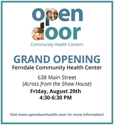 open door community house ferndale community health center open house open door community health centers
