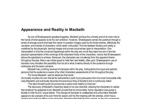 macbeth themes handout macbeth essay exles the best macbeth themes ideas