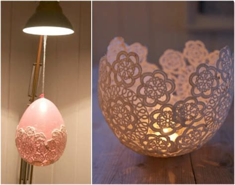 Diy Doily L by 10 Ideas For Decorating With Doilies Mazelmoments