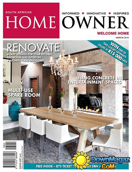 home decor magazines south africa south african home owner march 2016 187 download pdf