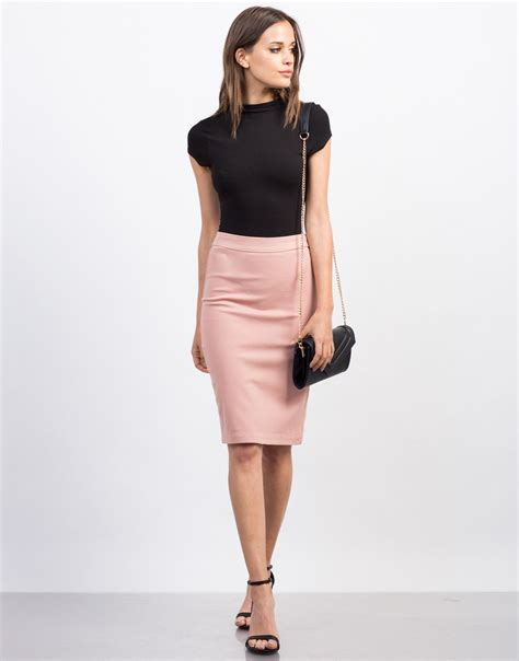 Darkblue Side Cut Sml Skirt 30043 side zipper pencil skirt 2020ave