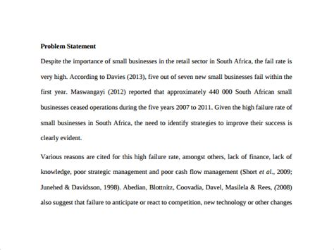 business statement template 8 business statement templates to sle templates