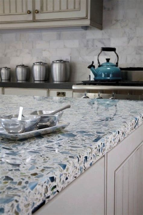 recycled countertop materials best 25 recycled glass countertops ideas on pinterest