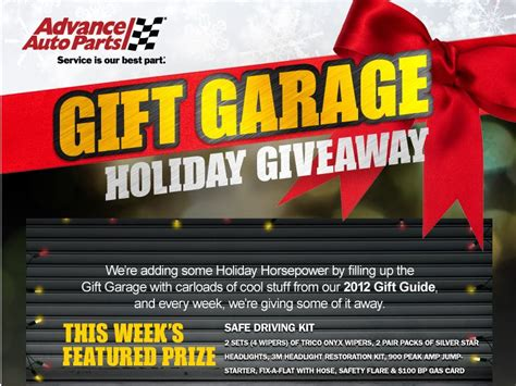 The View Holiday Sweepstakes - advance auto parts holiday giveaway