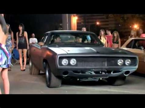fast five dodge charger race youtube behind fast five dom s charger 900 horses of detroit