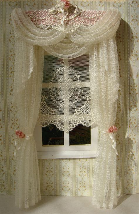 doll house curtains miniature 1 12 dollhouse curtains on order