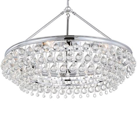 crystorama calypso chandelier crystorama crystorama calypso 6 light teardrop chrome chandelier