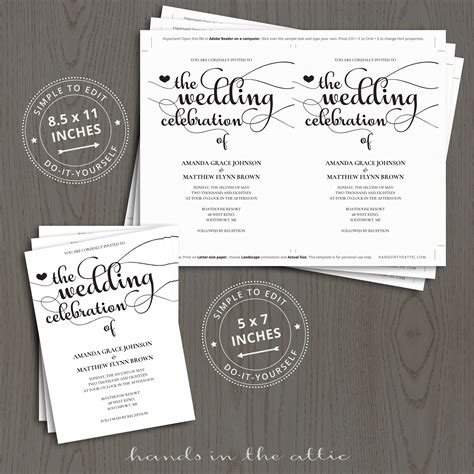 wedding celebration invitation templates hands   attic
