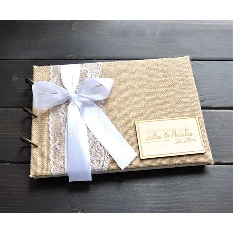 Handmade Wedding Guest Book - custom wedding guest book handmade wedding guestbook