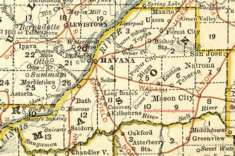 san jose illinois map county illinois 1881 map