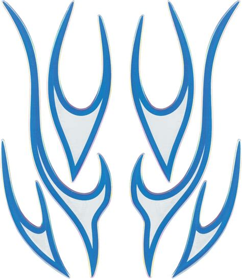 Blaues X Aufkleber by Aufkleber 3d Flammenset Blau Chrome Schneller