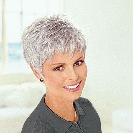 frosted grey hair cancer patients wigs chemo wigs short wigs gray wigs