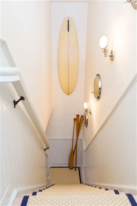 Nautical Bathrooms Decorating Ideas by East Hampton Beach Cottage Beach Style Staircase New