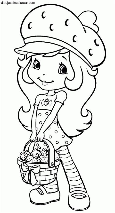 imagenes para colorear fresa dibujos de tarta de fresa strawberry shortcake para colorear