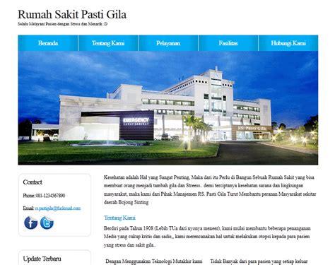 contoh layout rumah sakit contoh web design rumah sakit pasti gila website