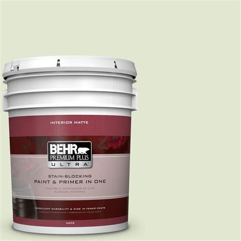 behr premium plus ultra 5 gal m360 2 white radish matte interior paint 175005 the home depot