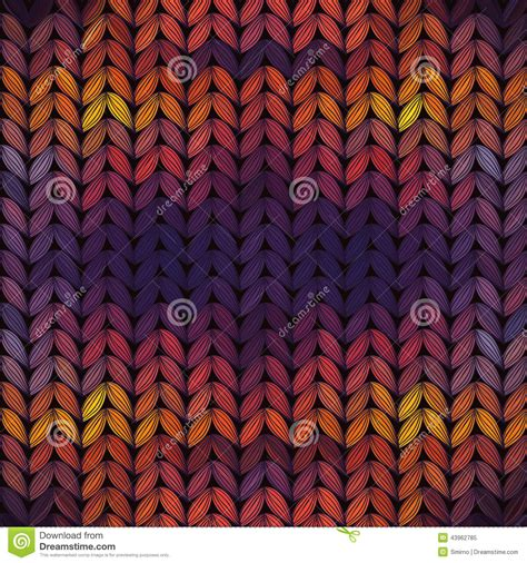 seamless knitted pattern vector seamless knitted sunset pattern stock vector image 43962785