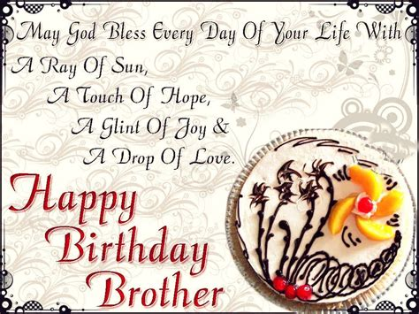Wish You A Happy Birthday God Bless 333 Images Birthday Wishes For Brother Cool Birthday