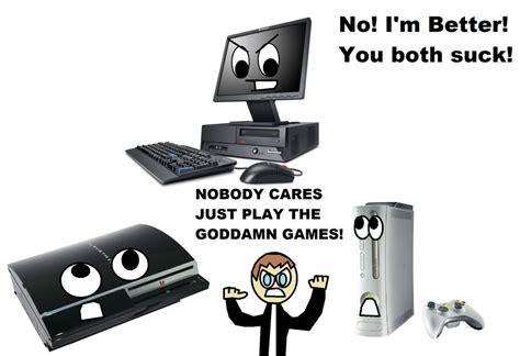 console per pc pc vs console war rant by writerman674 on deviantart