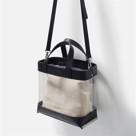 Tas Wanita Zara Vinyl Tote Bag zara zara nwt vinyl clear tote bag from fashion101 s