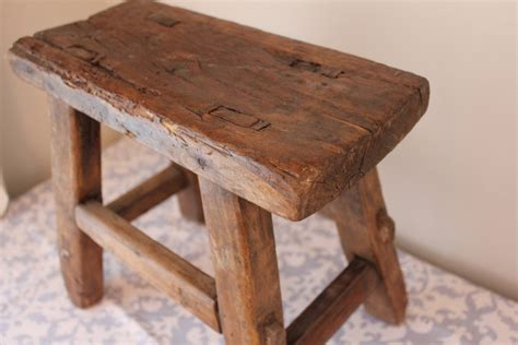 low wooden bench small rustic reclaimed wood bench by landrvintage on etsy