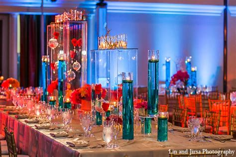 blue and orange decor blue and orange wedding centerpieces