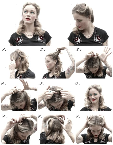 original 1940s hair tutorials uk how to hair girl 1940 s hairstyles archives