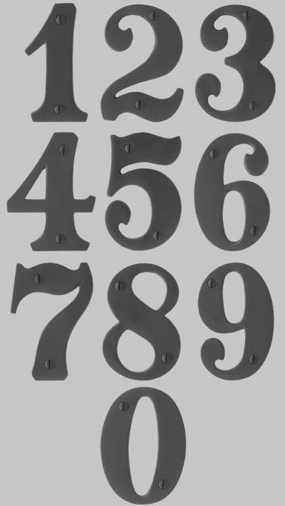 house number font by resnick whatfontis com