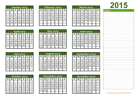 2015 yearly calendar template 5 best images of 2015 yearly calendar printable 2015