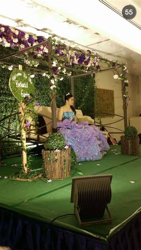 enchanted garden theme debut  birthday swing