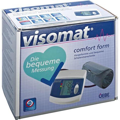 comfort form visomat comfort form oberarm blutdruckmessger 228 t 1st