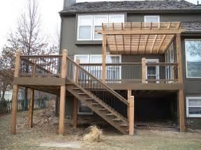 rails and raised deck backyard landscaping ideas pinterest