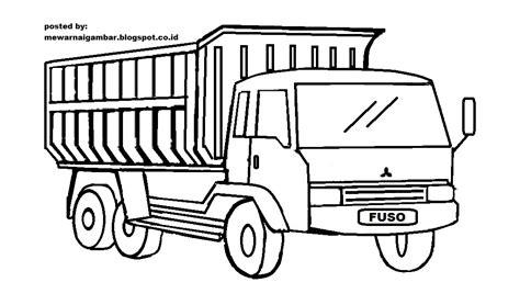 mewarnai gambar mewarnai gambar sketsa transportasi mobil truk 1