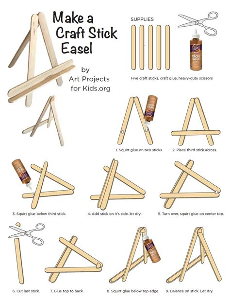 How To Make A Paper Easel - popsicle stick mini easel projects for