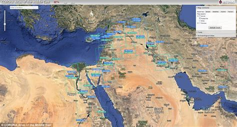 satellite map of middle east lost cities of middle east by cold war era