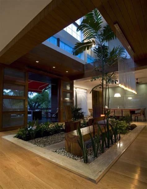 residential atrium design dream home design lush landscape as interior decor idea