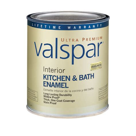 shop valspar ultra premium 1 quart interior flat enamel kitchen and bath ultra white base