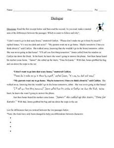 Dialogue In An Essay Exle by Dialogue Notes With Exles