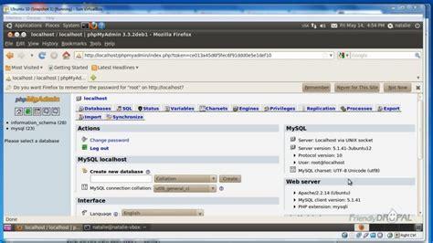tutorial install phpmyadmin ubuntu drupal development on ubuntu with virtualbox part 2