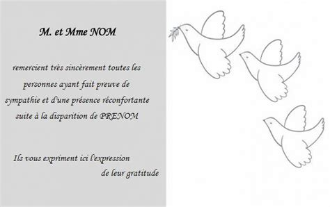 Exemple Lettre De Remerciement Condoleances Carte De Remerciement D 233 C 232 S Deuil Mod 232 Le 224 Personnaliser