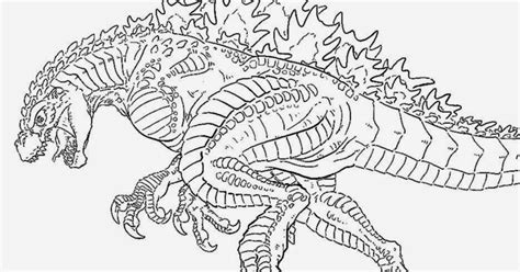 godzilla 2014 coloring pages sketch coloring page